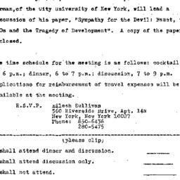 Announcements, 1973-11-21. ...