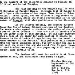 Announcements, 1975-10-31. ...