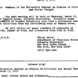 Announcements, 1977-03-01. ...