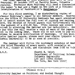 Announcements, 1977-10-04. ...