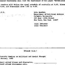 Announcements, 1982-01-05. ...