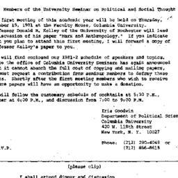 Announcements, 1981-09-24. ...