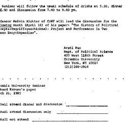 Announcements, 1985-02-28. ...