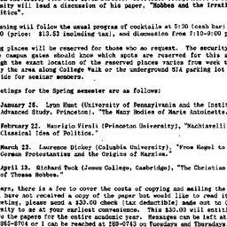 Announcements, 1988-11-29. ...