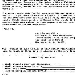 Announcements, 1990-10-31. ...
