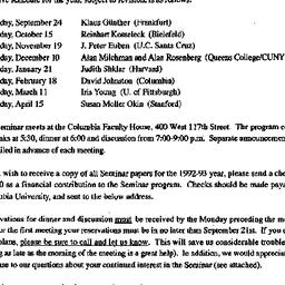 Announcements, 1992-09-10. ...