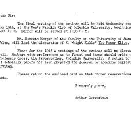 Announcements, 1963-05-02. ...