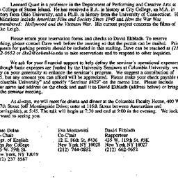Announcements, 1998-02-19. ...