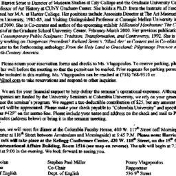 Announcements, 1999-09-16. ...
