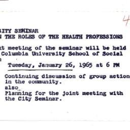 Announcements, 1965-01-26. ...