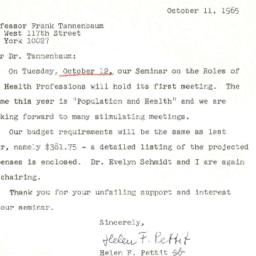 Correspondence, 1965-10-11....