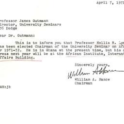 Correspondence, 1972-04-07....