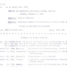 Announcements, 1960-09-22. ...