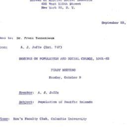 Announcements, 1961-09-25. ...
