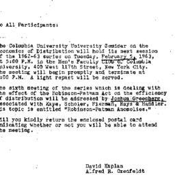 Announcements, 1963-01-25. ...