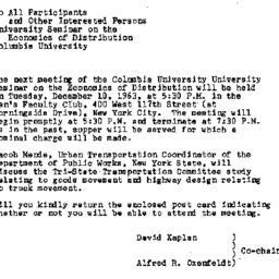 Announcements, 1963-12-03. ...