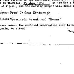 Announcements, 1963-01-17. ...