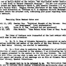Announcements, 1963-03-13. ...