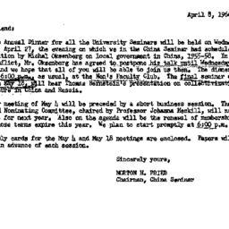 Announcements, 1966-04-08. ...