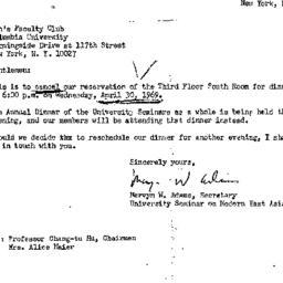 Announcements, 1969-04-30. ...