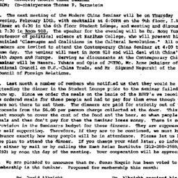 Announcements, 1977-02-01. ...