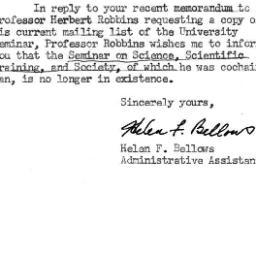 Correspondence, 1960-03-01....