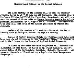 Announcements, 1962-02-16. ...