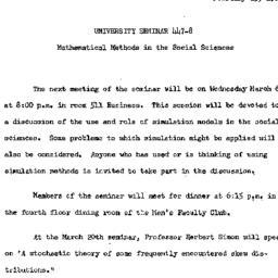 Announcements, 1963-02-25. ...