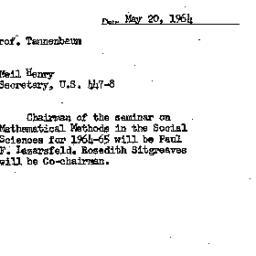 Correspondence, 1966-05-20....