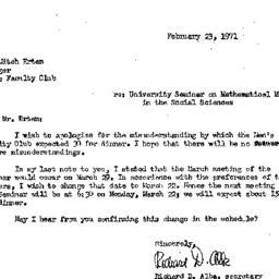 Correspondence, 1971-02-23....