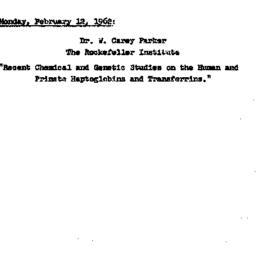 Announcements, 1962-02-12. ...
