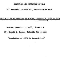 Announcements, 1966-01-17. ...