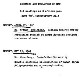 Announcements, 1967-04-17. ...