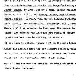 Announcements, 1969-12-05. ...