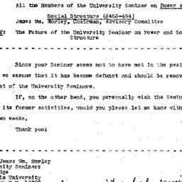 Correspondence, 1970-01-19....