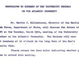 Announcements, 1963-03-11. ...