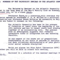 Announcements, 1962-10-02. ...