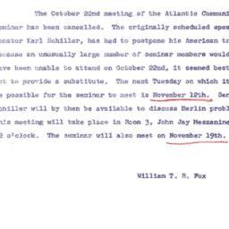 Announcements, 1963-10-16. ...