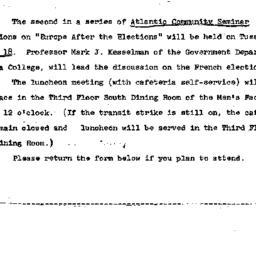 Announcements, 1966-01-04. ...