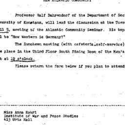 Announcements, 1966-03-17. ...