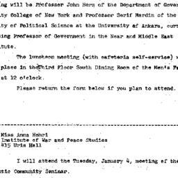 Announcements, 1965-12-08. ...