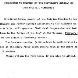 Announcements, 1967-02-17. ...