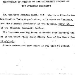 Announcements, 1967-03-01. ...