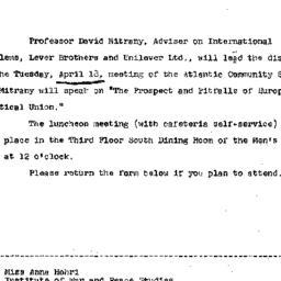 Announcements, 1967-04-03. ...