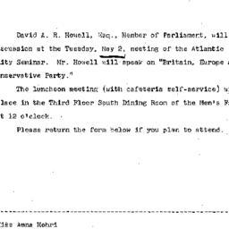 Announcements, 1967-04-20. ...