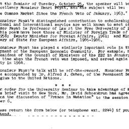 Announcements, 1966-10-19. ...