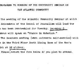 Announcements, 1966-11-22. ...