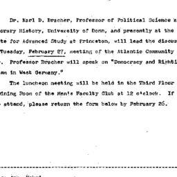 Announcements, 1968-02-12. ...