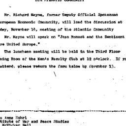 Announcements, 1967-10-31. ...