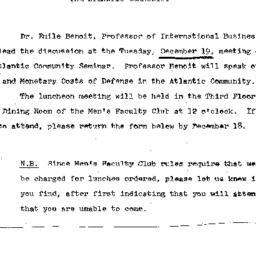 Announcements, 1967-11-30. ...
